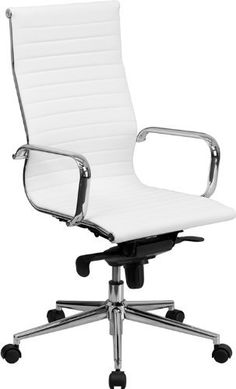 Flash Furniture High Back White Ribbed Upholstered Leather Executive Office Chair by Flash Furniture, http://www.amazon.com/dp/B008OTSFK6/ref=cm_sw_r_pi_dp_P2X3rb0VVDGXA usually $400 on sale $185