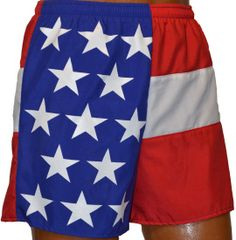 american flag running pants