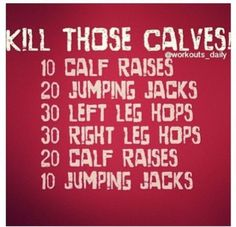 Killer Calf Workout -- Workouts You Can Do at Home