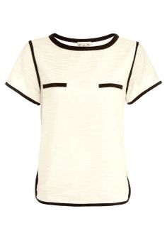 Trimmed Cotton T-shirt by Sea NY | Buy from Sea NY online at London Boutiques