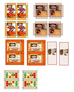 Dollhouse Size Grocery Products    You can download a printable which has on it several products from that era .    Jewish Food