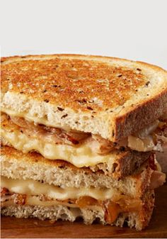 Grilled Swiss Cheese, Turkey, and Caramelized Onion Sandwich – This golden-brown dish is the ultimate in savory deliciousness—perfect for a chilly fall day!