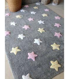 Alfombra infantil original con dulces estrellas y lavable en la lavadora - Minimoi