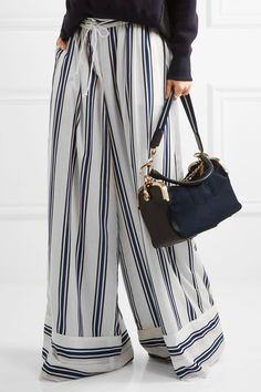 Sacai - Leather-trimmed Canvas Shoulder Bag - Navy - one size