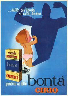 "Vintage Italian Posters ~ #illustrator #Italian #posters ~  FLASH 1964 GENERATIONS and ""PICK-UP"" Bonta Cirio"