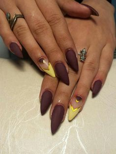 manicure, matte+nails, and nails image