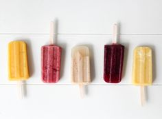 One Healthy Popsicle Recipe, Five Ways