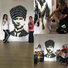 Atatürk el baskısı Kindergarten Activities, Preschool Crafts, Activities For Kids, Crafts For Kids, Art Rules, Art Lessons For Kids, First Art, Pre School, Little Ones
