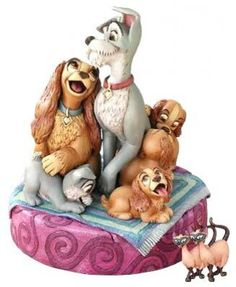 jim shore lady and the tramp figurine | Lady & Tramp with puppies figure with secret compartment and pin from ...