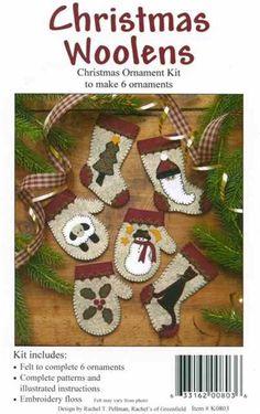 Felt Christmas Ornament Kit (6 ornaments)