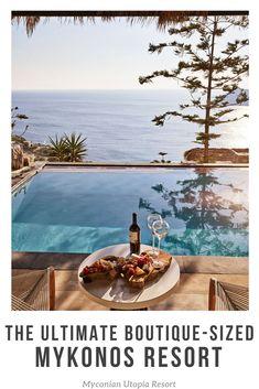 Mykonian Utopia Resort is a boutique-sized getaway in stunning Mykonos! | Mykonos Greece | Mykonos where to stay | Mykonos hotels | Mykonos honeymoon | Mykonos house | Mykonos hotel luxury | Mykonos travel | Mykonos resort | Mykonos villa | Mykonos greece hotels honeymoon