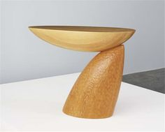 "CHOI BYUNG HOON Console, 2001  Maple, pine. Incised ""CHOI BYUNG HOON 2001."" 31 3/4 x 43 1/8 x 17 1/2 in. (80.6 x 109.5 x 44.5 cm)"
