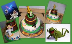 star wars & muppets 30th birthday cake