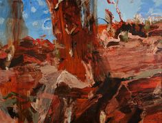 Abstract Landscape, Landscape Paintings, Abstract Art, Landscapes, Australian Painters, Australian Art, Museum, Illustration, Artist