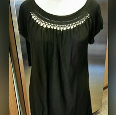 AK Anne Klein  black Top Anne Klein black Top Size small. 80% rayon 20% nylon hand wash dry flat.very soft. Please feel free to ask any questions before purchasing. And thank you for shopping my closet! AK Anne Klein  Tops Blouses