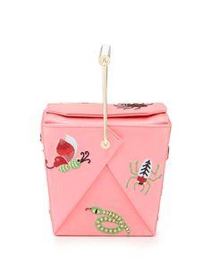 V23CQ Charlotte Olympia Take Me Away Box Clutch Bag, Pink