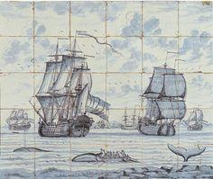 Dutch tile panel 1750