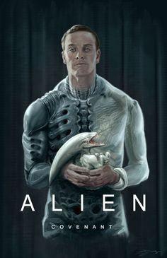 Poster alien covenant fan art by hyoung nam -watch free latest movies online on Alien Vs Predator, Arte Alien, Alien Art, Alien Covenant, The Covenant, Scary Movies, Good Movies, Alien Film, Science Fiction