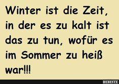 Winterzeit......... | Lustige Bilder, Sprüche, Witze, echt lustig