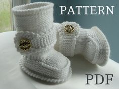 Knitting PATTERN Baby Booties Baby Shoes Knitted by Solnishko43, $5.50