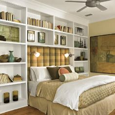 Would like to do this is the apartment just down sized and be able to do the shelves above the headboard.