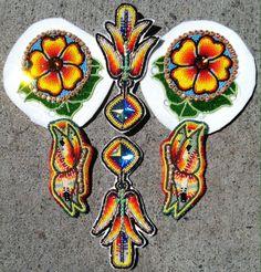 Flowers - Beading - unknown artist