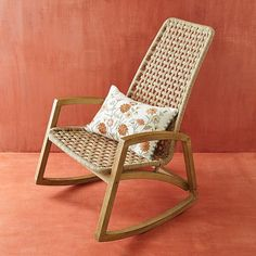 Mecedora high back rope pier 1 imports - Sears Rocking Chair Nursery, Patio Rocking Chairs, Patio Chair Cushions, Diy Chair, Patio Chairs, Cool Chairs, Rattan Rocking Chair, Patio Furniture Sets, Home Furniture