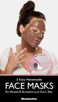 5 Simple Homemade Face Masks For Teenage Skin Is your teen worried about her skin? Here are some simple homemade face masks for teenage skin that promise to naturally nourish & revitalize the skin. Skin Care Regimen, Skin Care Tips, Skin Tips, Easy Homemade Face Masks, Facemask Homemade, Makeup Tricks, Makeup Ideas, Makeup Tutorials, Makeup Inspiration