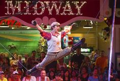 See free world class circus acts performed daily on our famous Midway stage.