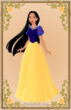 Pocahontas as Snow White