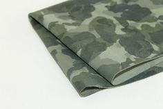 Army Camouflage Print Genuine Leather Army by JLLeatherSupplies