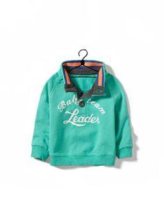 sweatshirt with 3 button collar sooo cute
