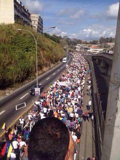 Pacific walk against dictatorship in San Antonio de los Altos, Venezuela. #SOSVenezuela