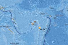 斐濟東加外海規模6以上地震無海嘯威脅 - 中央通訊社
