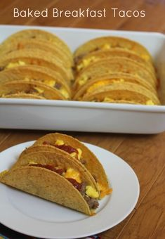 Baked Breakfast Tacos -Quick and Easy Recipe-