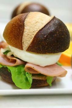 brezel buns sandwich