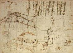Leonardo's design for a flying machine