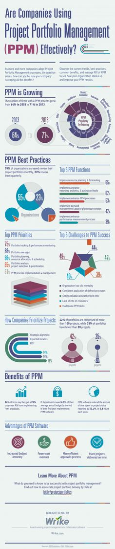 Is Your Company Using Project Portfolio Management (PPM) Effectively? Infographic: Is Your Company Using Project Portfolio Management (PPM) Effectively?Infographic: Is Your Company Using Project Portfolio Management (PPM) Effectively? Project Management Certification, Program Management, Change Management, Business Management, Management Tips, Business Planning, Business Tips, Cv Inspiration, Project Management Professional