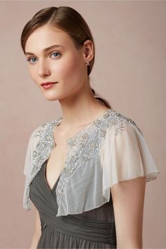 Mercury Bloom Capelet at BHLDN - not sure where I would wear this, but I love it just the same.