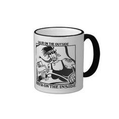 Sailor Outside Biker Inside women's left hand mug @ http://www.zazzle.com/sailor_outside_biker_inside_womens_left_hand_mug-168918598108264692