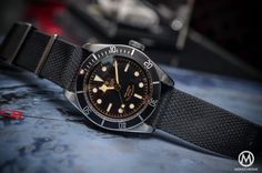 Tudor Black Bay Black Bezel 79220N - case on fabric NATO