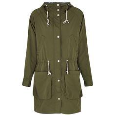PARKA LONDON Dana Lightweight Parka (350 BGN) ❤ liked on Polyvore featuring outerwear, coats, khaki, hooded coat, lightweight parka, khaki green parka, green hooded parka and lined parka coats
