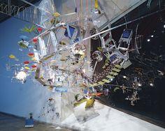Sarah Sze (b. 1969), Strange Attractor, 2000.Whitney Museum of American Art, New York.