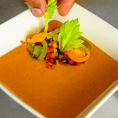 Heirloom Tomato Gazpacho Tomato Gazpacho, Heirloom Tomatoes, Food Preparation, Thai Red Curry, Ethnic Recipes, Beautiful