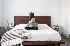 Need an excuse to stay in bed? The FitNest author, Zehra Allibhai, shares her favourite morning stretches guaranteed to kickstart your day. Relaxation Exercises, Stretches, Stay In Bed, Bed Wall, Getting Out Of Bed, Live For Yourself, Bed Frame, King Size, Mattress