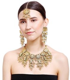 Product Features: Color: Gold Material: Kundan Product Size: 20 cm (N) 15 cm (MT) 10 cm x cm Product Weight: 290 Gram Disclaimer: There will be slight difference in digital to actual image Fashion Jewelry Stores, Fashion Accessories, Fashion Jewellery, Jewelry Sets, Women Jewelry, Gold Material, Necklace Set, Mt 10, Bamboo Tree