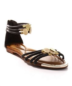 Love this Black Chasity Sandal by Cape Robbin Collection on #zulily! #zulilyfinds $22.99, usually 55.00