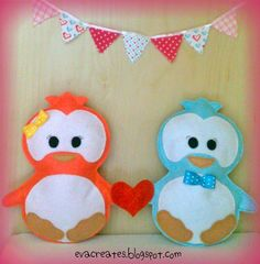 cute penguins in love: Valentine's project