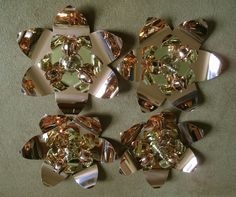 Set of four replica WAS Benson reflector light fittings made for the refurbished William Morris Gallery, London.