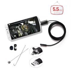 11.28$  Watch now - http://aliasj.shopchina.info/go.php?t=32784780497 - 5.5mm Lens Waterproof PC Android Endoscope with 1m/2m/5m Cable Handheld Inspection Borescope for Android Phone PC Tablet 11.28$ #magazineonline
